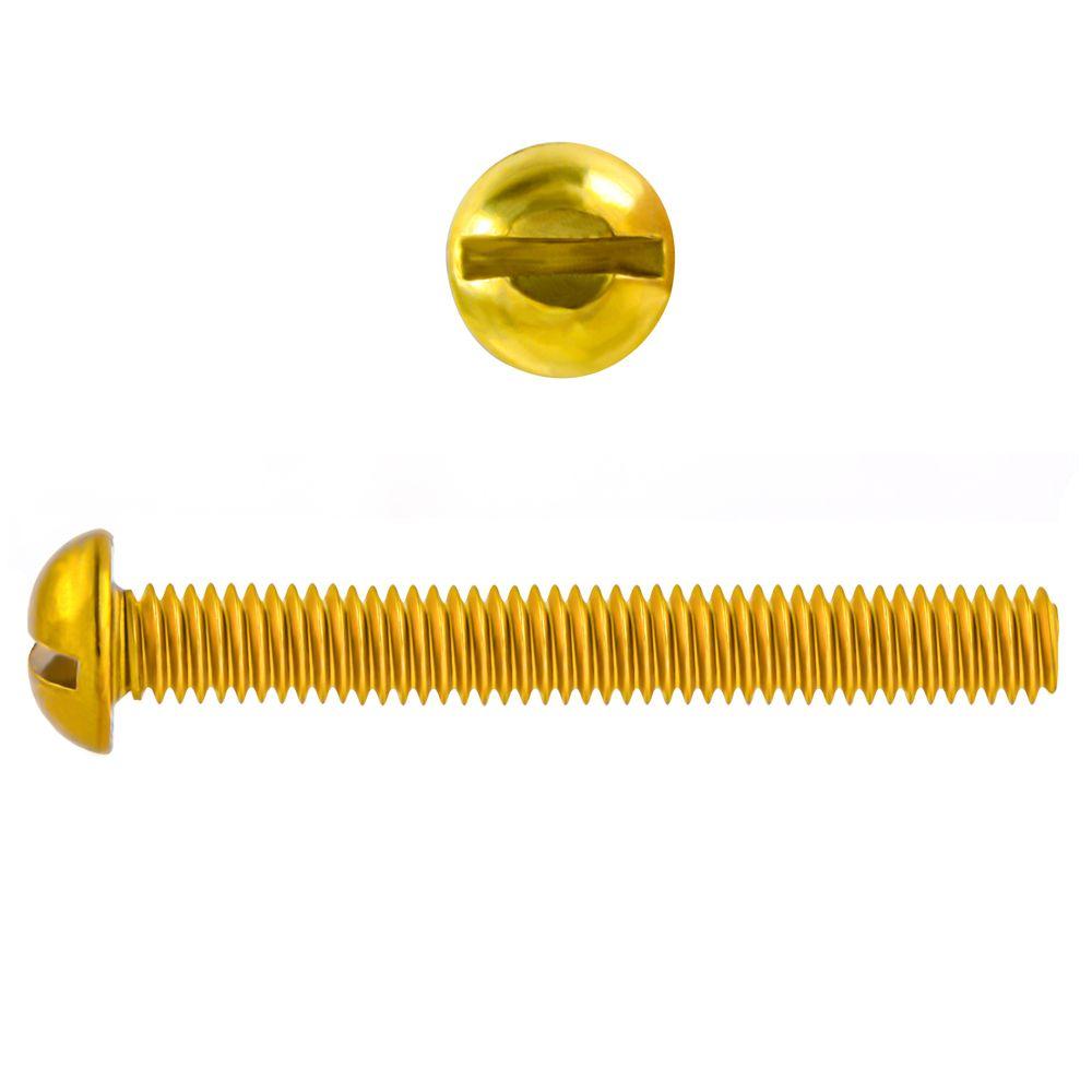 10-32x1 1/2 Rd Hd Slot Brass Mach Screw