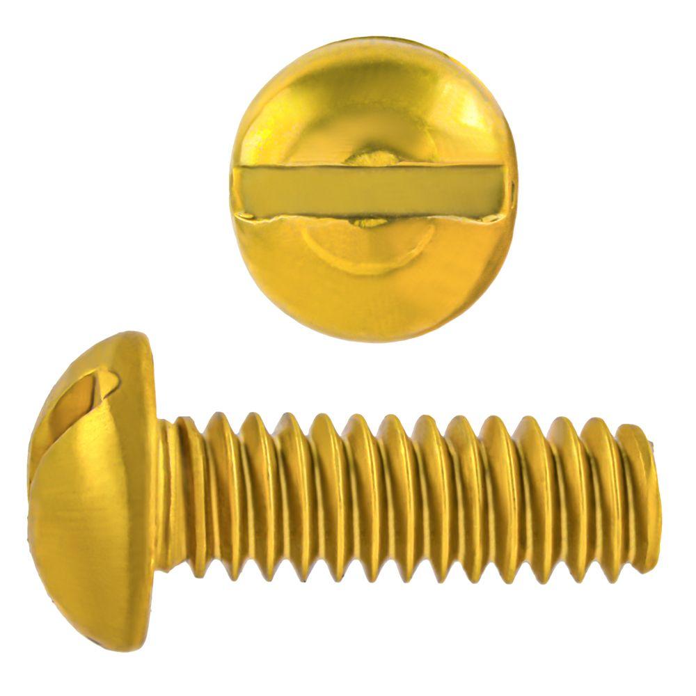1/4-20x3/4 Rd Hd Slot Brass Mach Screw