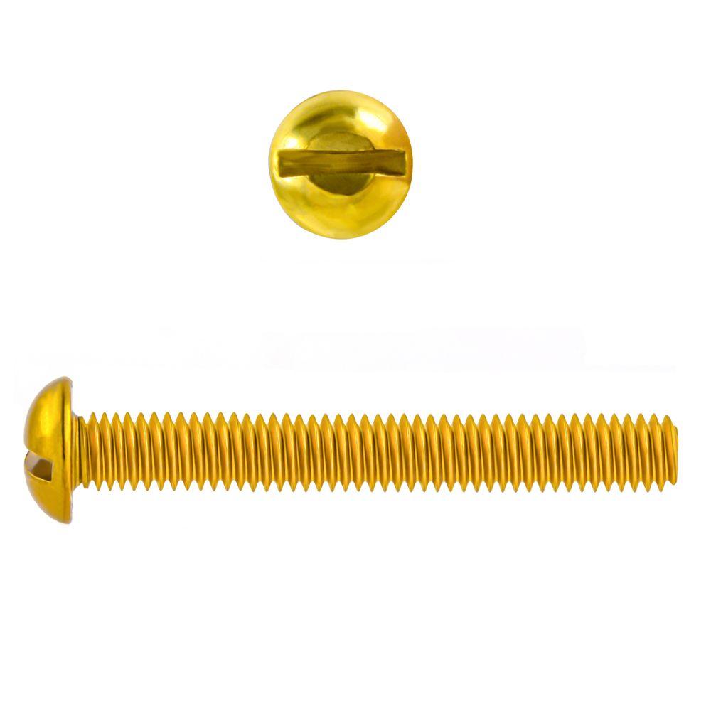 1/4-20x1 1/2 Rd Hd Slot Brass Mach Screw