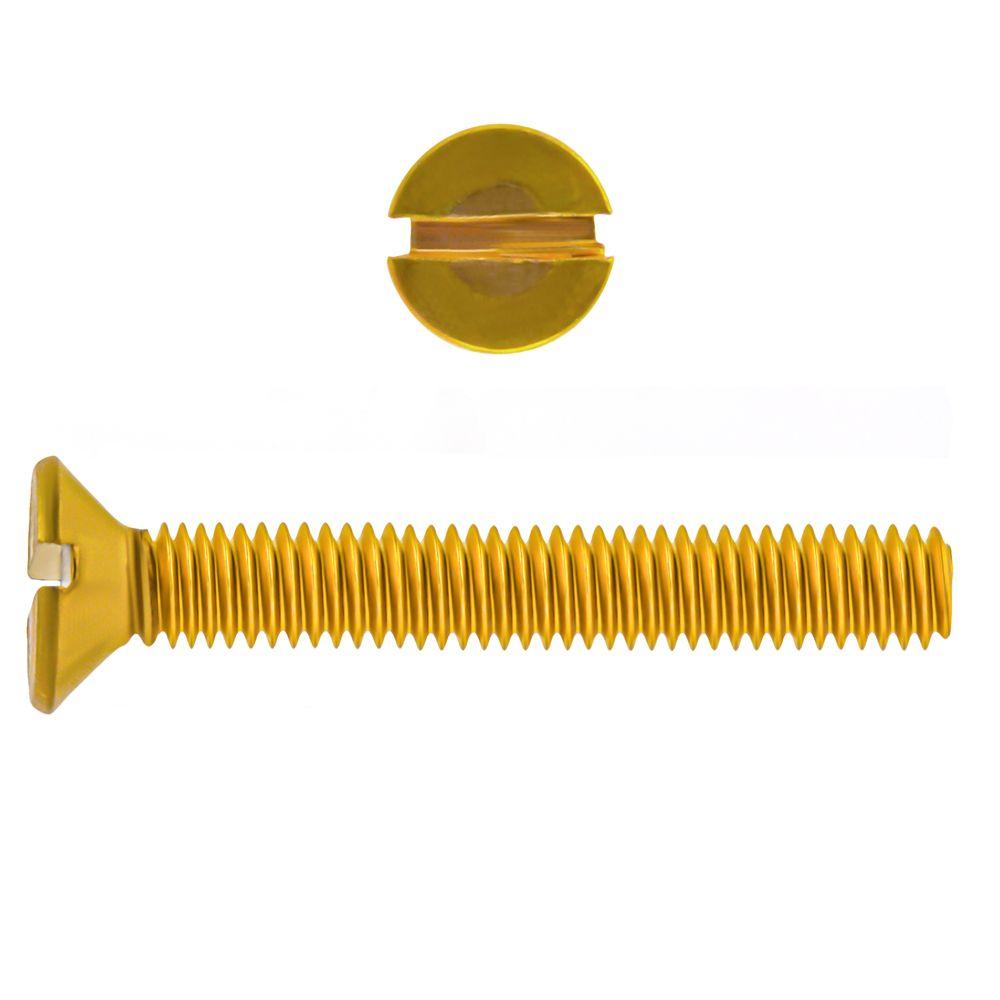 1/4-20x2 Vis Mecanique Laiton Fraisee Fendue