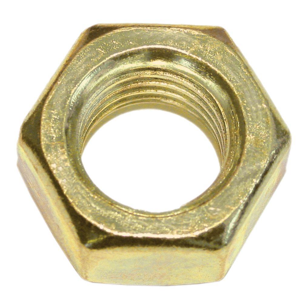 1/4-20 Brass Mach Screw Nut