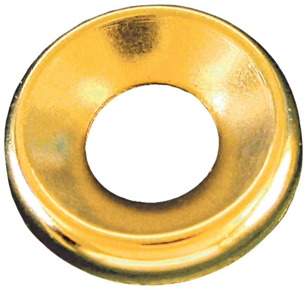 1/4 Brass Finish Washer Plain