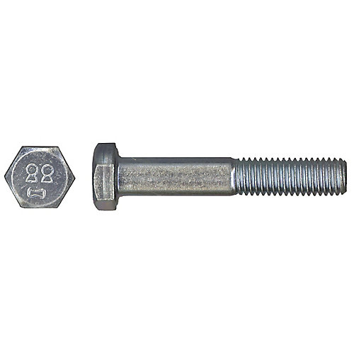 M6-1.00 x 30mm Class 8.8 Metric Hex Cap Screw - DIN 931 - Zinc Plated
