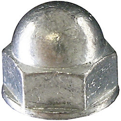 Paulin 10-24 Steel-Acorn (Cap) Hex Nut - Zinc Plated