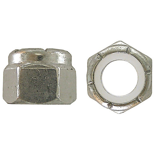 10-24 Nylon Insert Stop Nut - Pozi-Lok - Zinc Plated - UNC