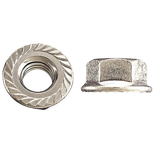 5/16-inch-18 Flange Nut-Tensilock-Hardened - Zinc Plated