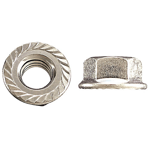 3/8-inch-16 Flange Nut-Tensilock-Hardened - Zinc Plated