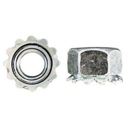 Paulin Écrou de blocage Keps 1/4 po-20 - plaqué zinc