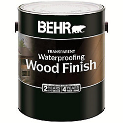BEHR TRANSPARENT WATERPROOFING WOOD FINISH, NATURAL, 3.79 L