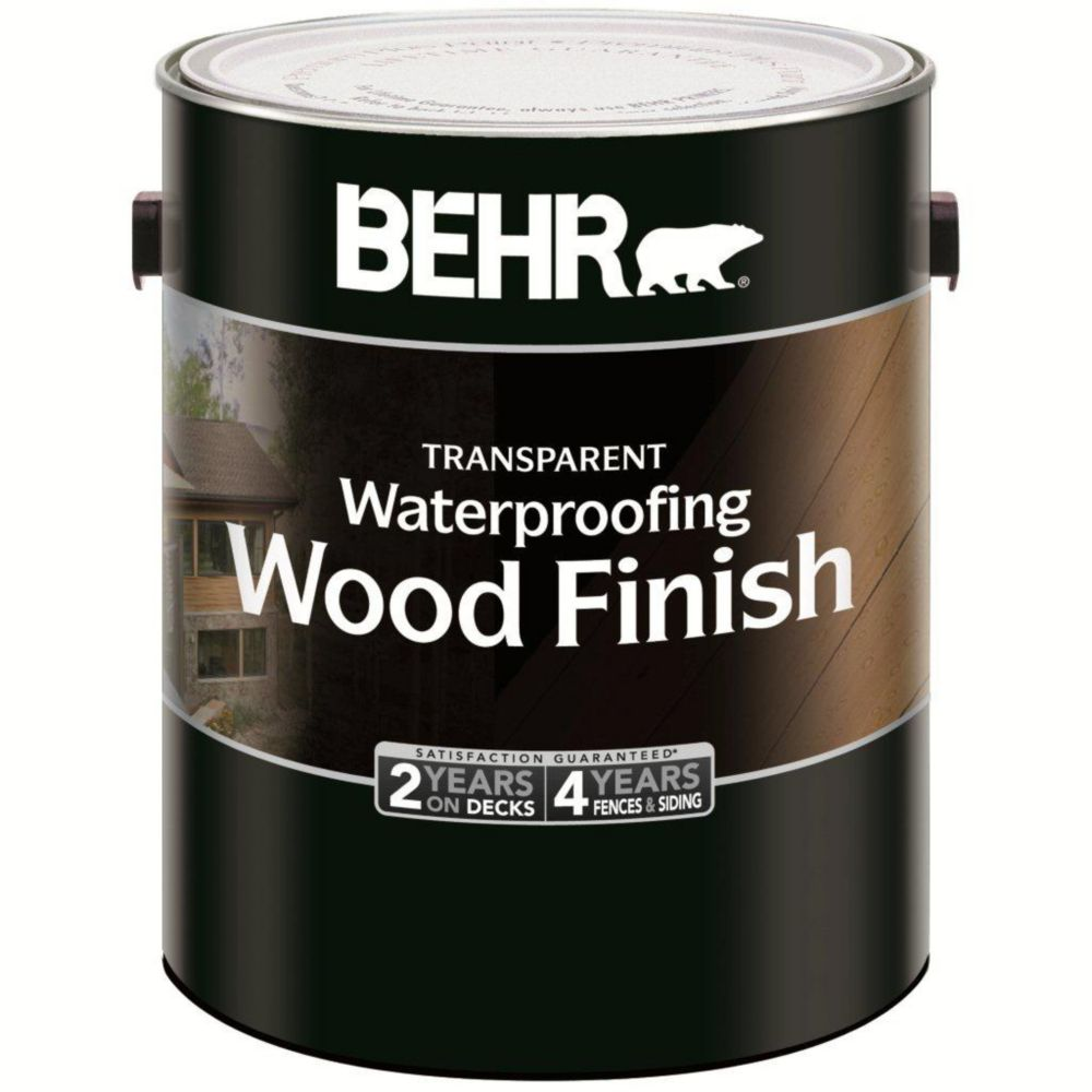 Behr BEHR TRANSPARENT WATERPROOFING WOOD FINISH, NATURAL, 3.79 L