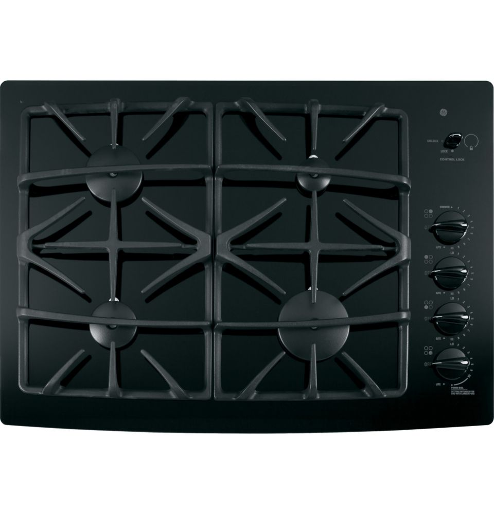 30-inch Built-In Gas-on-Glass Cooktop in Black