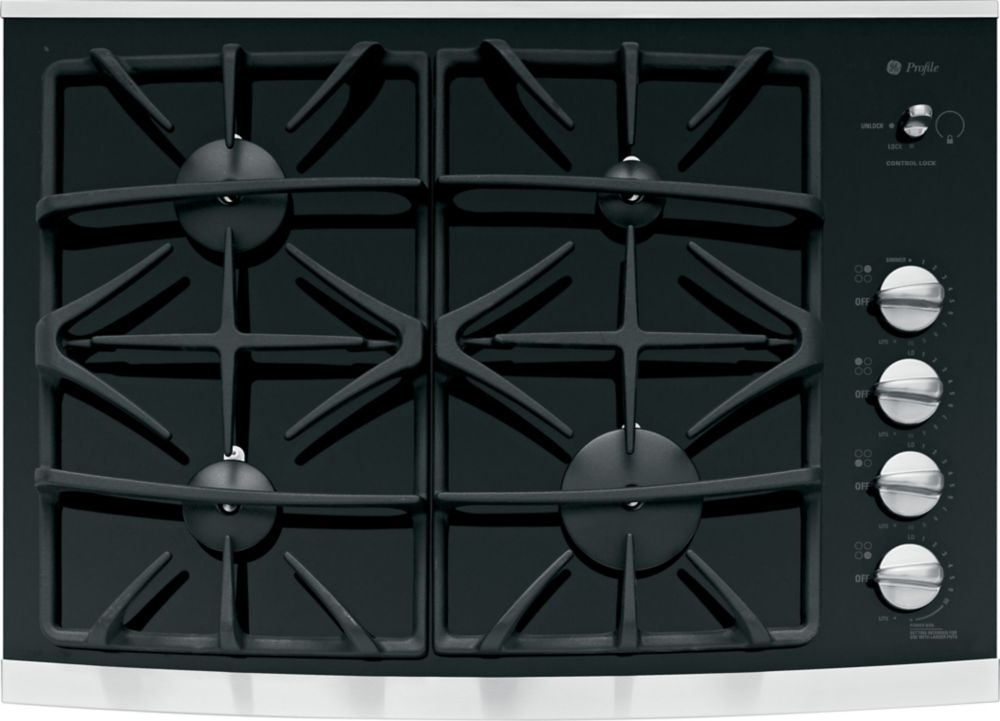 30-inch Built-In Gas-on-Glass Cooktop in Stainless Steel