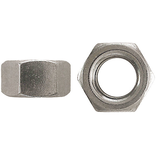 1/4-inch-20 Steel Hex Machine Screw Nut - Zinc Plated