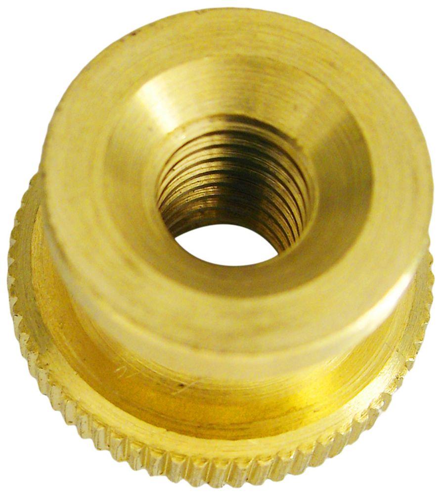 8-32 Brass Knurled Nut