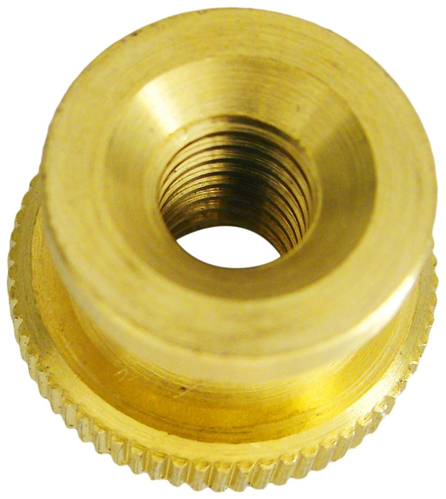 Paulin 10 32 Brass Knurled Nut The Home Depot Canada