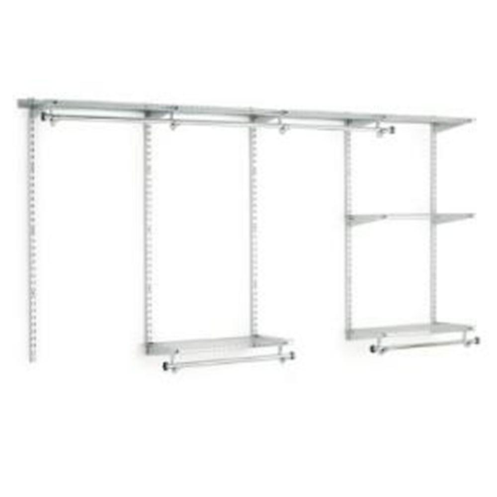 4 ft. to 8 ft. W Customizable Closet Organization Kit