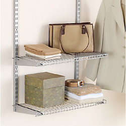 26-inch Shelf with Brackets in Satin Nickel (2-Pack)