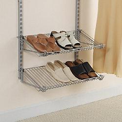 26-inch Double Shoe Shelf in Satin Nickel