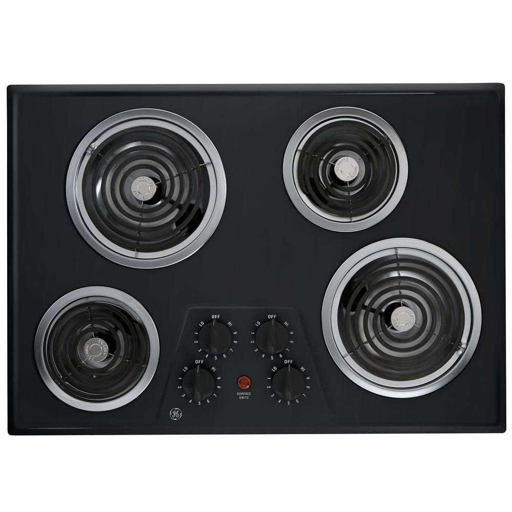 Built In Ge Cooktops ~ Ge inch built in electric cooktop black the home