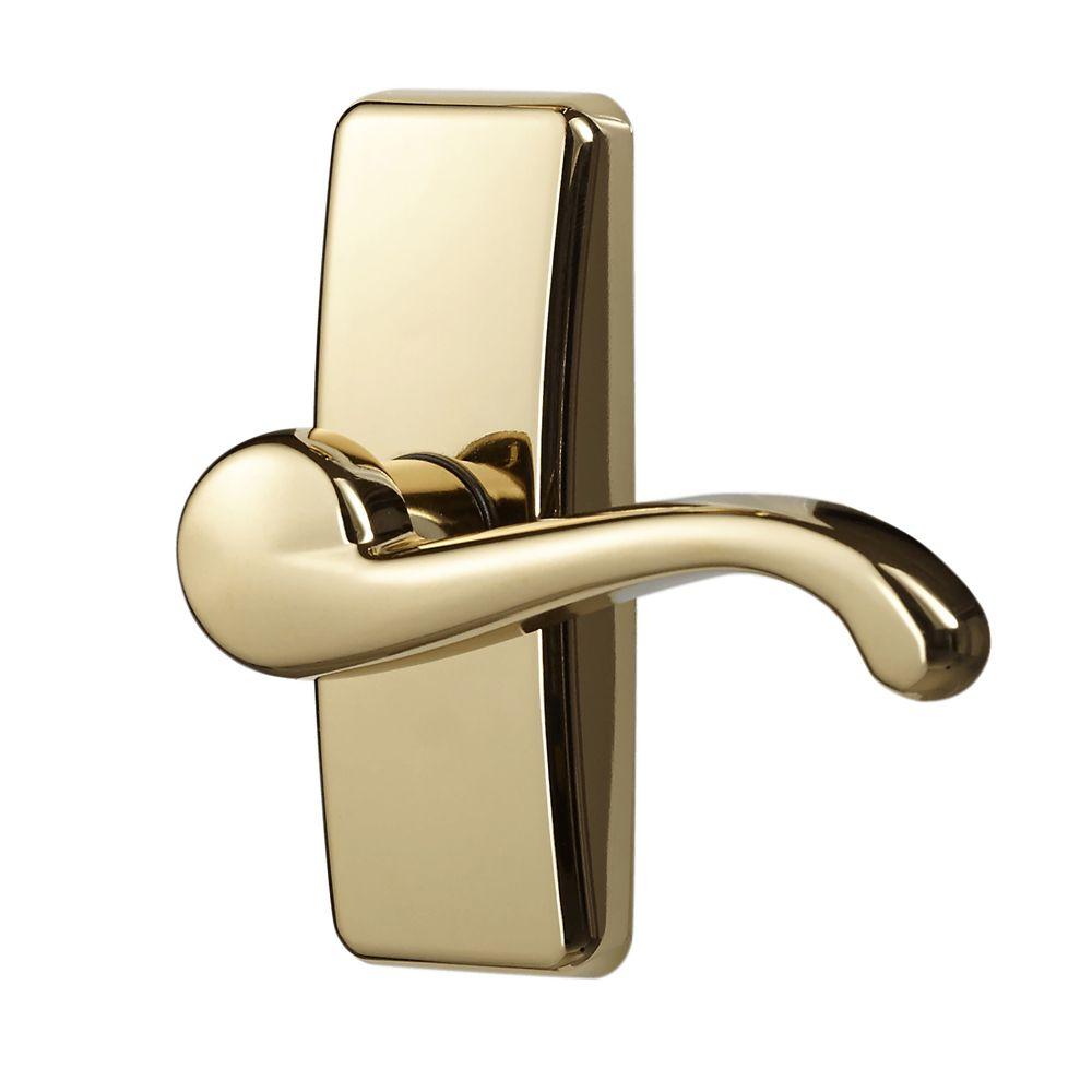Ideal Security Brass Storm Door Handle Set