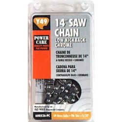 Power Care 14 In. Replacement Chain for Black & Decker, McCulloch, Remingtion, and Ryobi Chain Saws.