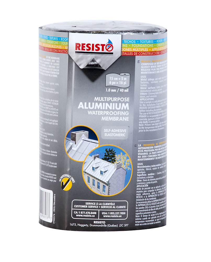 Multipurpose Waterproofing Membrane - AluFor Metal Roofs, Sidings And Other Metal Surfaces