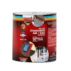 RESISTO Membrane d'étanchéité à l'air/eau Red Zone, 40 mil, 6 po x 50 pi