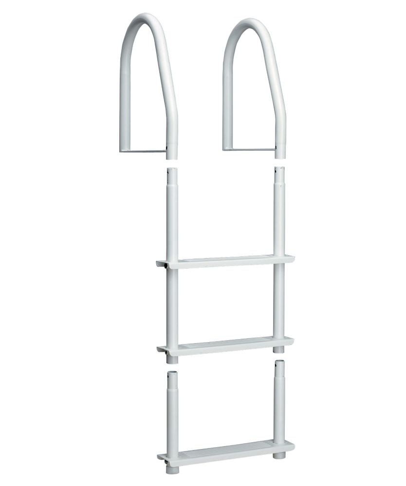 Dock Ladder, White Galvalume, 3 Step Fixed