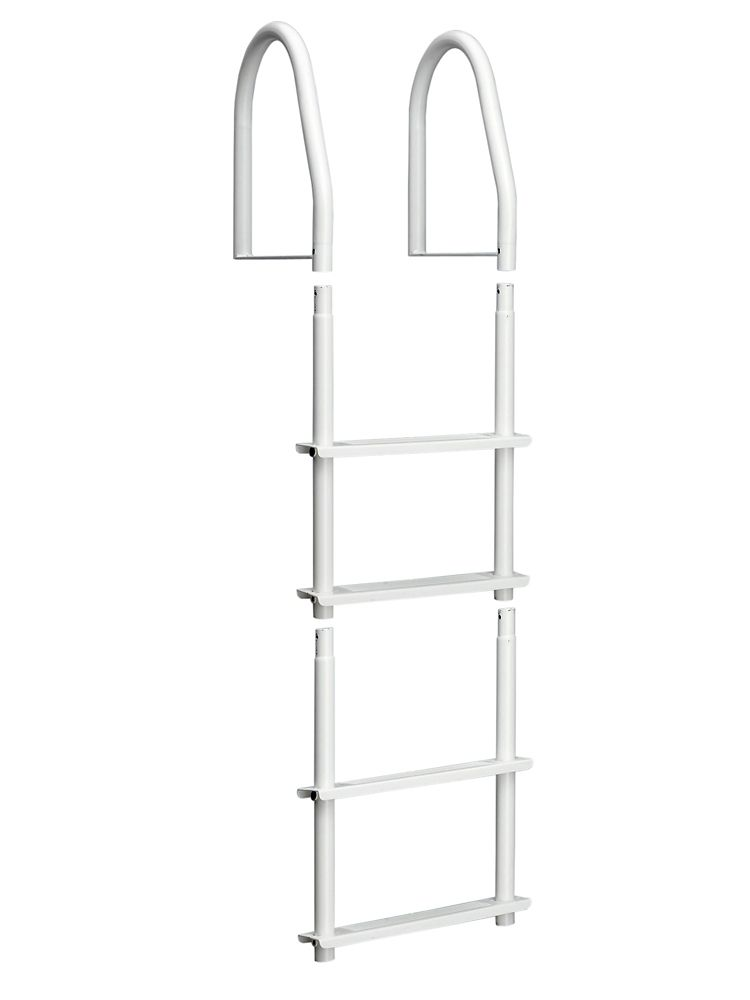 Dock Ladder, White Galvalume, 4 Step Fixed