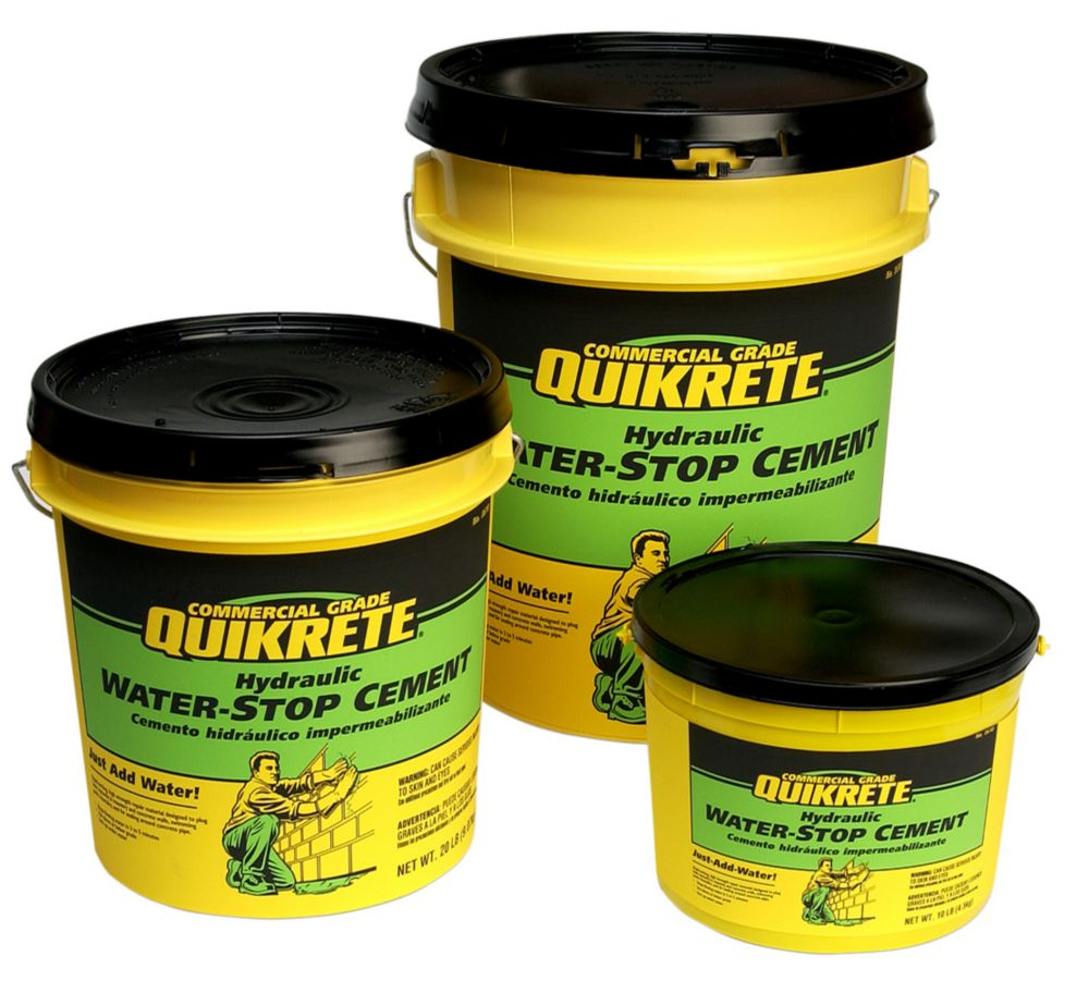 Concrete Water Stopper : Quikrete hydraulic water stop cement kg the home