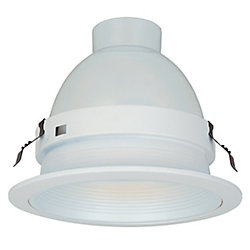 Commercial Electric 6 In. Airtight Super Trim Metal Baffle, White Finish