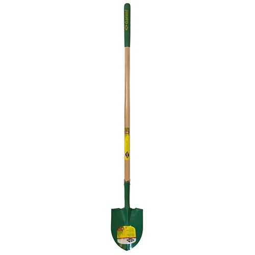 Garant Garden Care Tempered Steel Round Point Shovel, Forward Steps, Long Handle