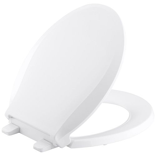 KOHLER Cachet Quiet-Close Round Toilet Seat in White