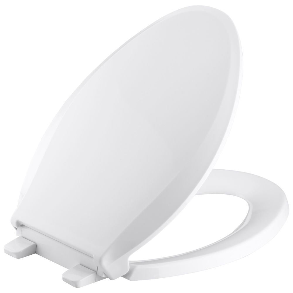 KOHLER Cachet Quiet-Close Elongated Toilet Seat in White