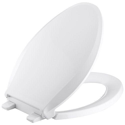 KOHLER Cachet Quiet-Close Elongated Toilet Seat in White