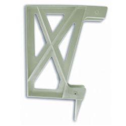 Peak Products Plastic Deck Bench Bracket in Khaki