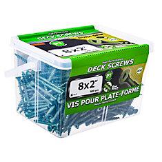 #8 x 2-inch Square Drive Flat Head Deck Screw UNC in Green - 500pcs