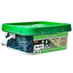 #8 x 2-1/2-inch Square Drive Flat Head Deck Screw UNC in Green - 1200pcs