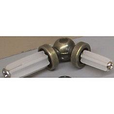 Pr. Adjustable Corner Bay Window Brackets - Antitque Brass