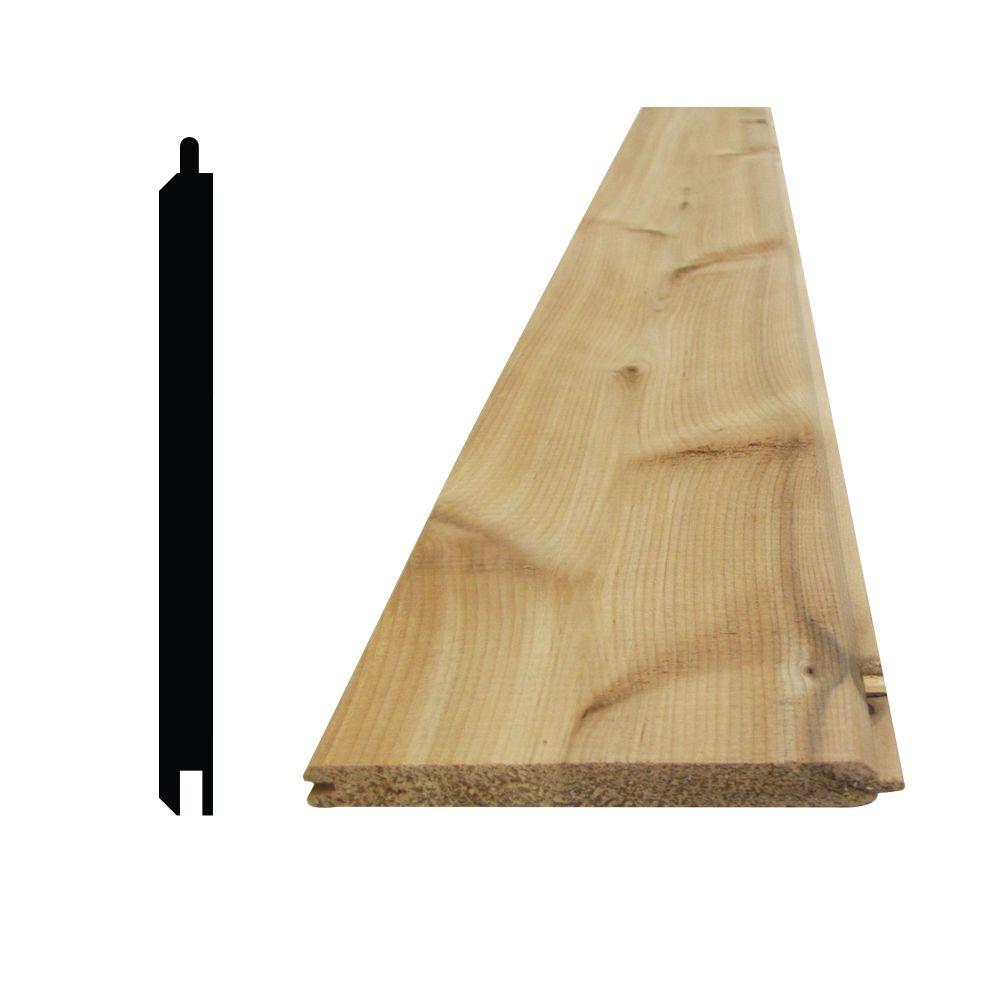 5/16 Inch x4  Inch - 8 Feet Cedar Knotty VJT T&G