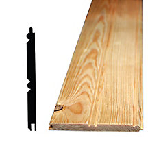 5/16-inch x 4-inch - 32-inch Pine Wainscot Edge and Centre Beaded Pattern