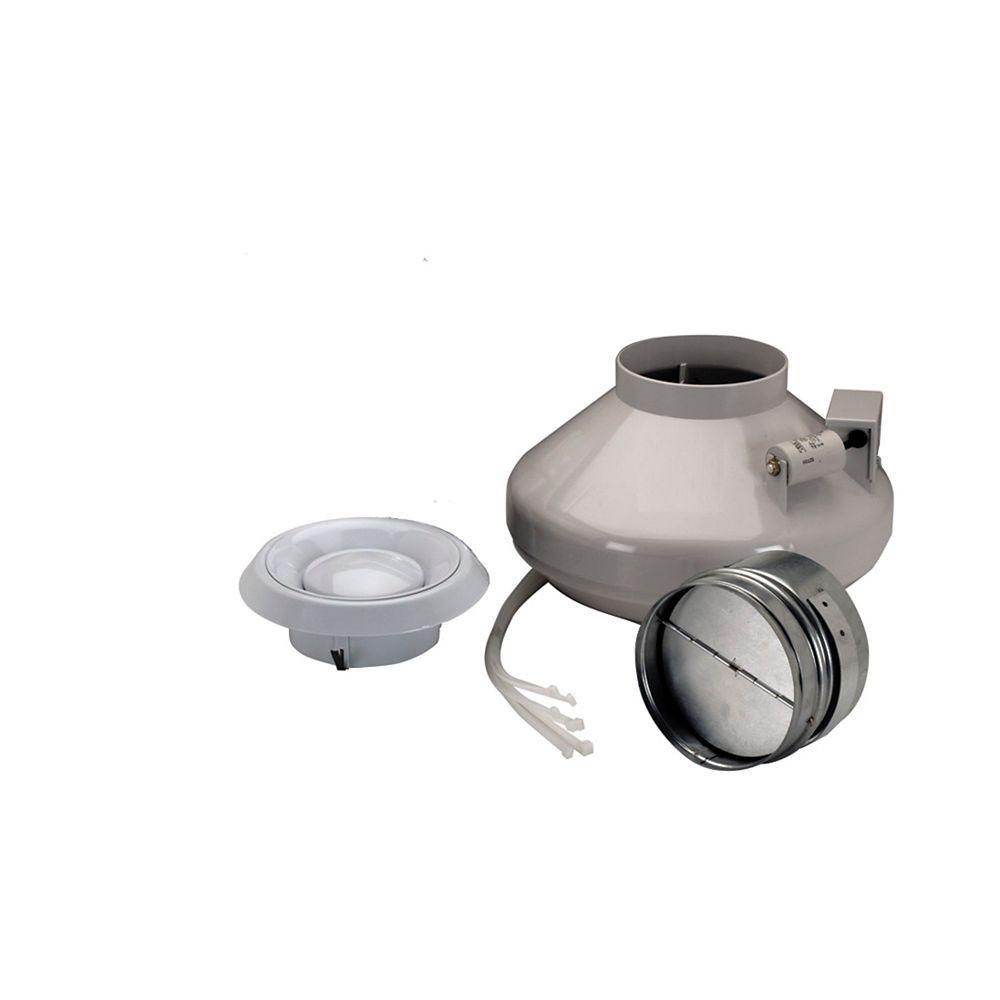 Ensemble ventilateur/grille en ligne de 4 po