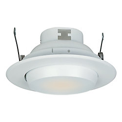 Commercial Electric 5 In. Eyeball Trim w/ 30 Degree Tilt, White Finish