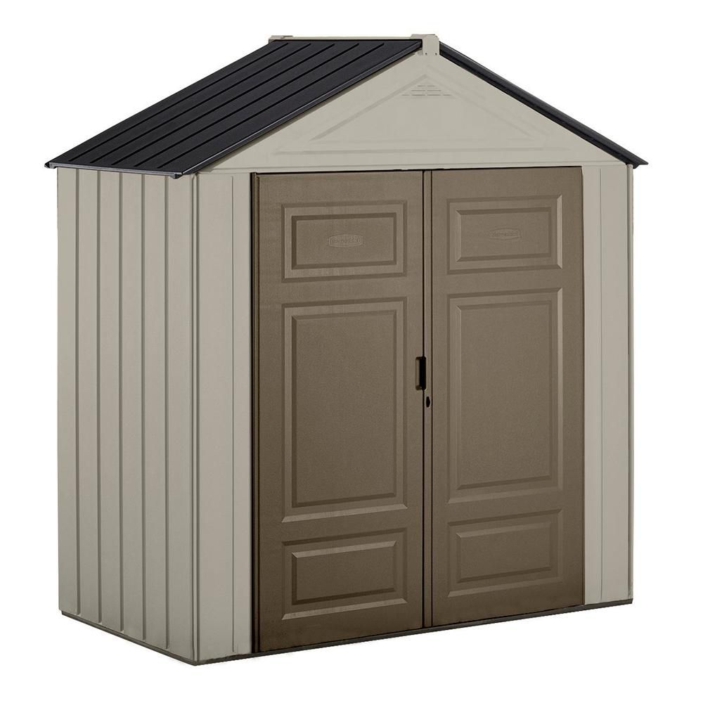 Arrow Newburgh 5 ft. x 4 ft. Steel Storage Shed | The Home ...