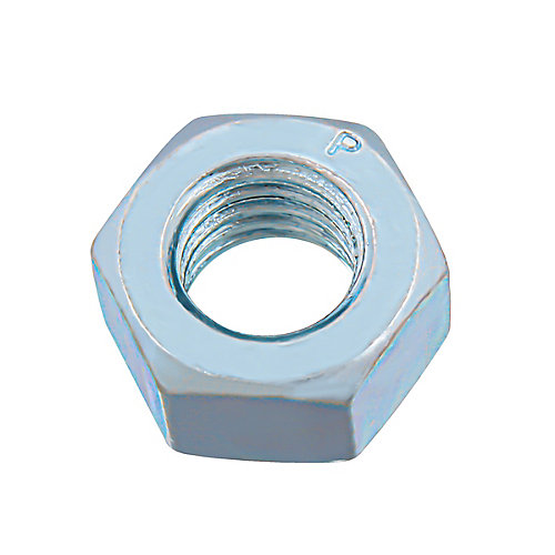 7/16-inch -14 Finished Hex Nut - Zinc Plated - Grade 2 - UNC