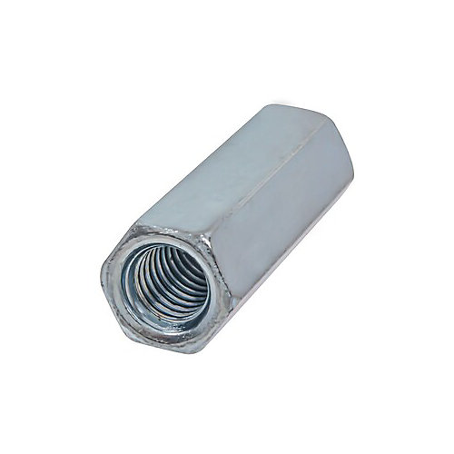 3/8-inch-16 Hex Coupling Nut-Fully Threaded - Zinc Plated - UNC