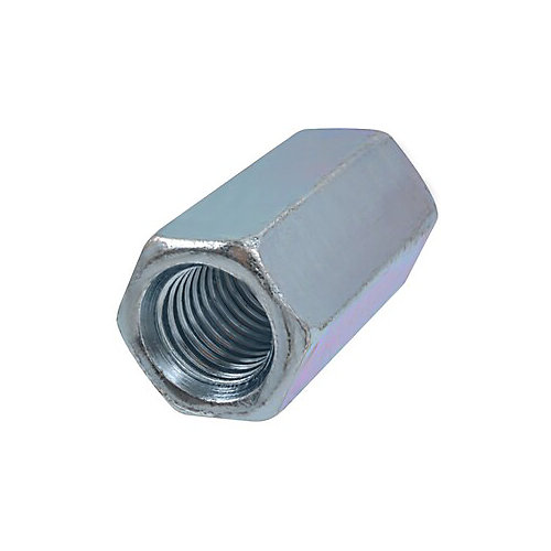 3/4-inch-10 Hex Coupling Nut-Fully Threaded - Zinc Plated - UNC