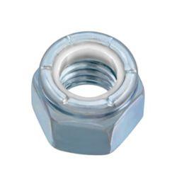 Paulin Écrou d'arrêt en nylon de 3/8 po-16 - Pozi-Lok - plaqué zinc - UNC
