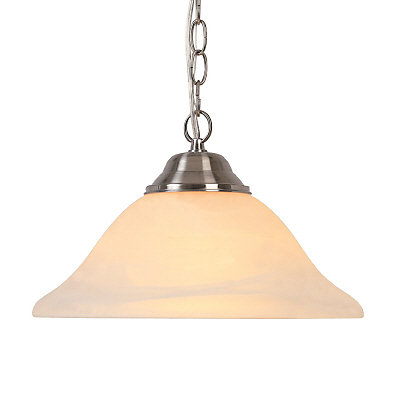 Hampton bay pendant light fixture in brushed nickel with frosted pendant light fixture in brushed nickel with frosted glass shade aloadofball Gallery