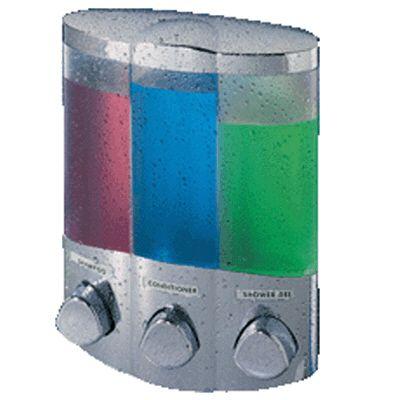 Aviva TRIO Dispenser for your Favorite Shower Liquids